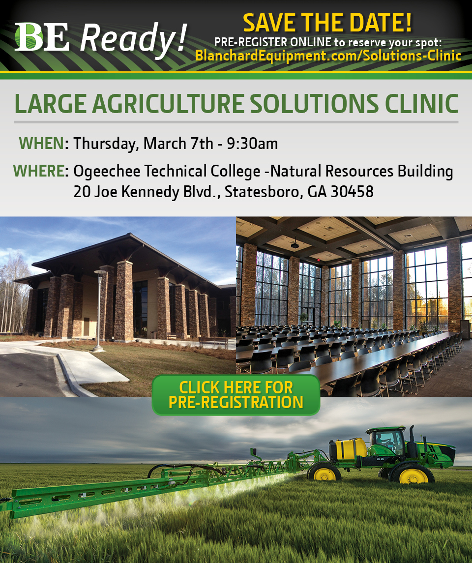 Large Agriculture Solutions Clinic at Blanchard Equipment