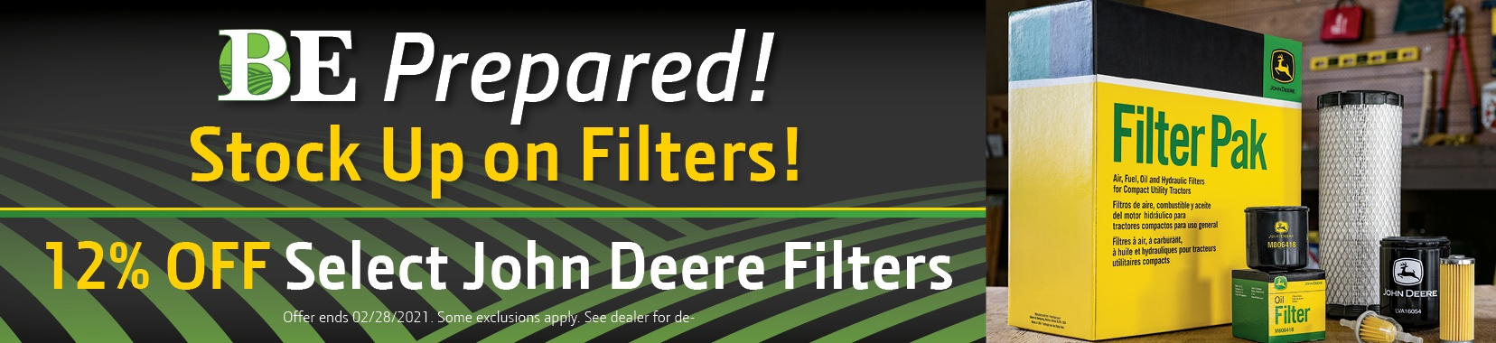 Filter Sale at Blanchard Equipment.