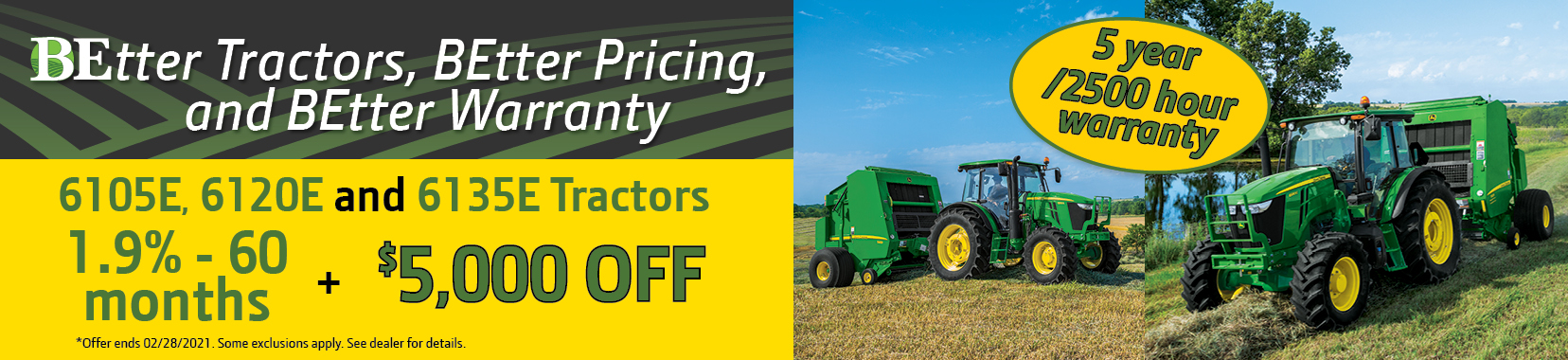 BEtter Tractor, BEtter Pricing and BEtter Warranty